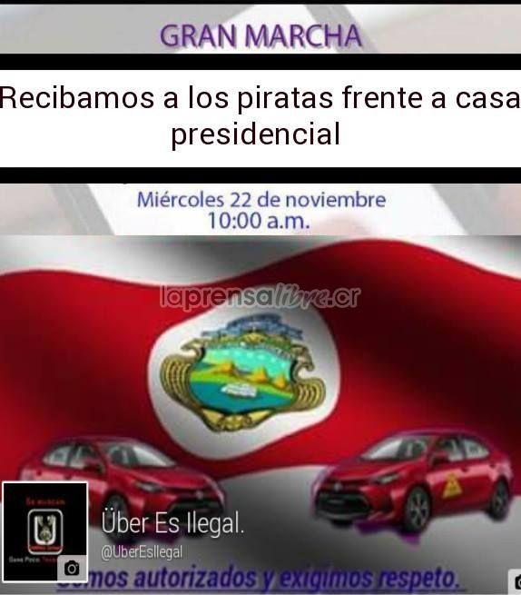 Esperemos que no se desaten actos de violencia, eso no arreglaría nada (Benjamín Núñez Vega)  Taxistas esperarían a Ubers en Casa Presidencial https://www.laprensalibre.cr/Noticias/detalle/126340/taxistas-esperarian-a-ubers-en-casa-presidencial