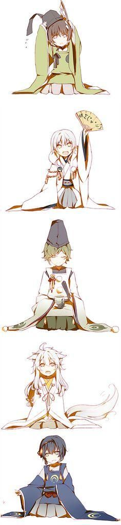 Touken Ranbu Ishi-papa | Tsuru-kun | Broco..Ugui-kun | Kogi-chan | Jiji-san