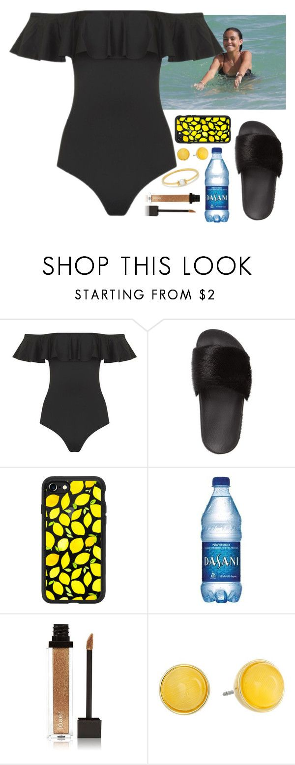 """""""Beach w/ Madison"""" by baeisme ❤ liked on Polyvore featuring Topshop, Givenchy, Casetify, Jouer, Kate Spade and Anissa Kermiche"""