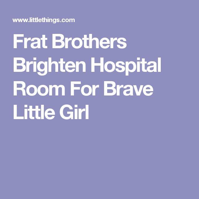 Frat Brothers Brighten Hospital Room For Brave Little Girl