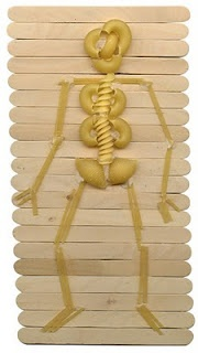 My Body Theme - Preschool: Pasta Skeleton