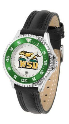 Wright State Raiders Competitor Ladies Watch with Leather Band by SunTime. $74.55. The hottest sports watch on the market, the Competitor features the Wright State Raiders team logo boldly displayed on the dial along with a colorful rotating timer/bezel, quartz accurate movement and leather/nylon strap. The combined leather underneath and nylon on top makes the watch water resistant as well.¶Wear it to a game, while watching a game or just to show off your NCAA pride wherever you go!
