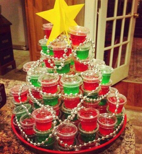 Christmas Jello shot tree