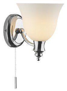 Traditional Chrome Metal Bathroom Wall Lamp with Pully Switch - HP148282 Be the first to review this item Price: £73.00