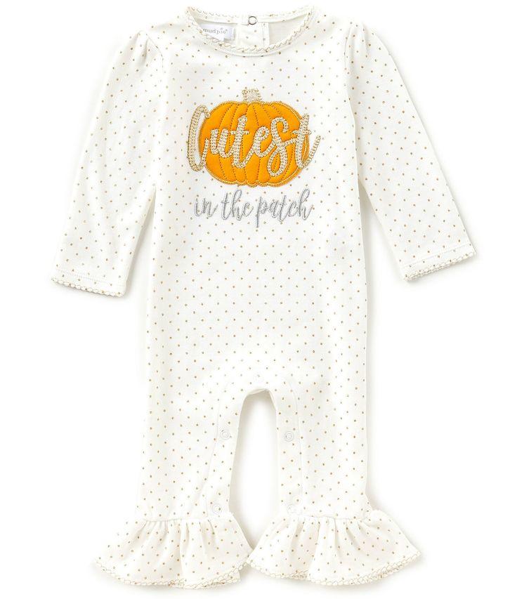 Mud Pie Baby Girls Newborn12 Months Cutest In The Patch Ruffle Coverall #Dillards