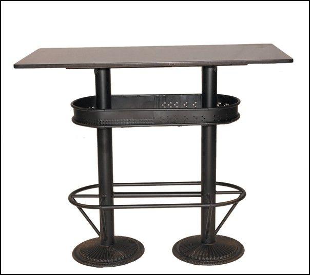 Table haute industrielle mange debout loft pas chere et - Chaise industrielle pas chere ...