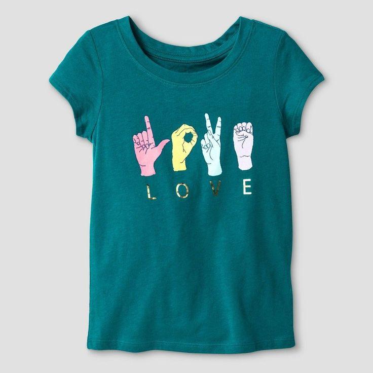 Toddler Girls' T-Shirt Cat & Jack - Fanfare 4T, Toddler Girl's, Blue