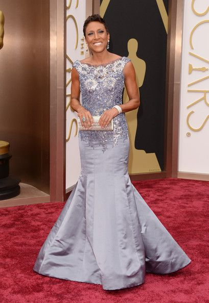 TV personality Robin Roberts attends the Oscars held at Hollywood & Highland Center on March 2, 2014 in Hollywood, California.