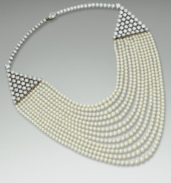 PEARL AND DIAMOND NECKLACE / CARTIER / 1953 / via Sotheby's