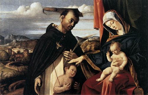 artedelotus:  Lotto, Lorenzo - Madonna and Child With St. Peter