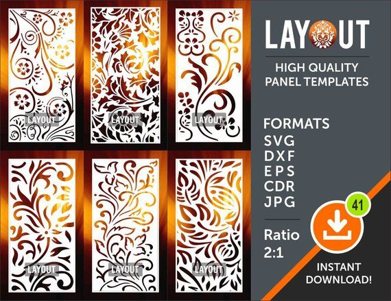 Room Divider, CNC File, Laser Cutting File, Room Decor