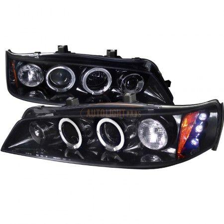 Spec-D 2LHP-ACD94G-TM | 1997 Honda Accord Smoke Projector Headlights for Coupe/Sedan/Hatchback/Wagon