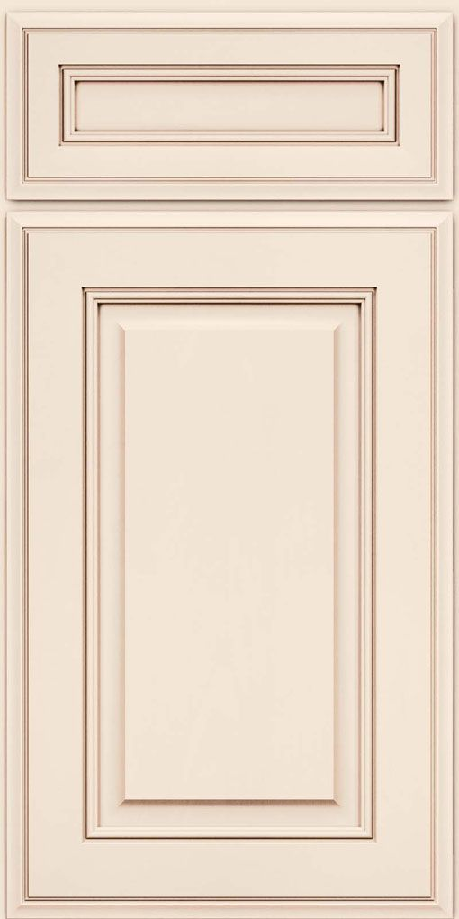 Kraftmaid square raised panel solid aa5m in dove white w for Dove white cabinets with cocoa glaze