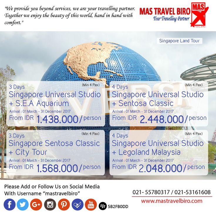 Singapore land tour from IDR 1.438.000/Person , Book Now ! ;) #mastravelbiro #promo #singapore #landtour #tour