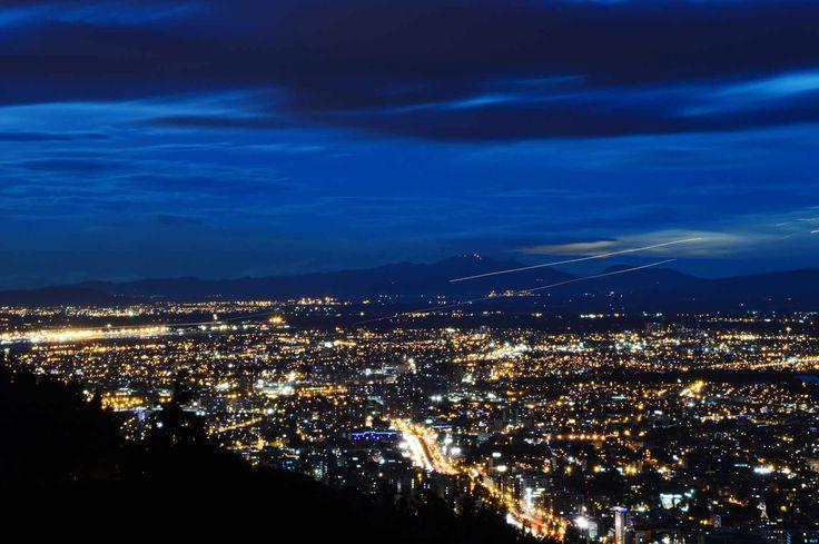 Vista larga exposición vía a La Calera  #Destino #Bogota