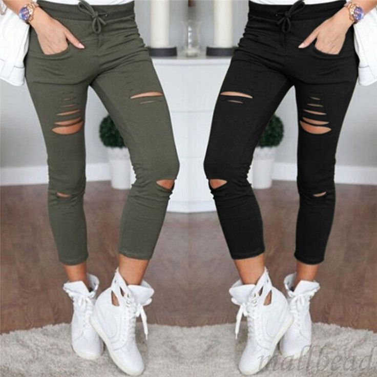 Women's Denim Skinny Pants High Waist Stretch Jeans Pencil Trousers  Boyfriend