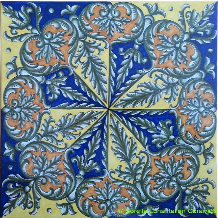 Hand painted Italian Ceramic Tiles