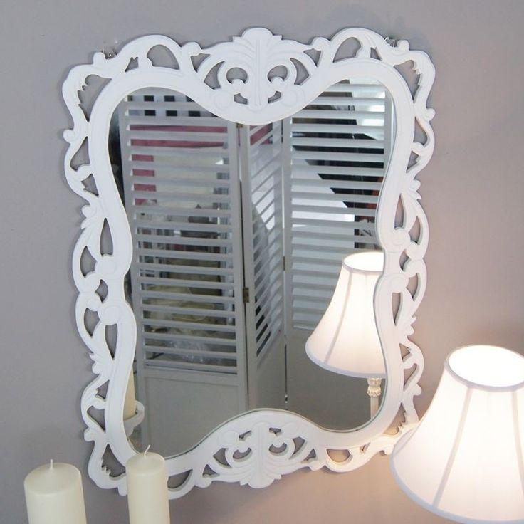 Romantyczne lustro   Romantic mirror #romantyczne #lustro #białe #stylowe #sypialnia #dodatki #wystrój #wnętrza #romantic #mirror #white #stylish #bedroom #accessories #interior