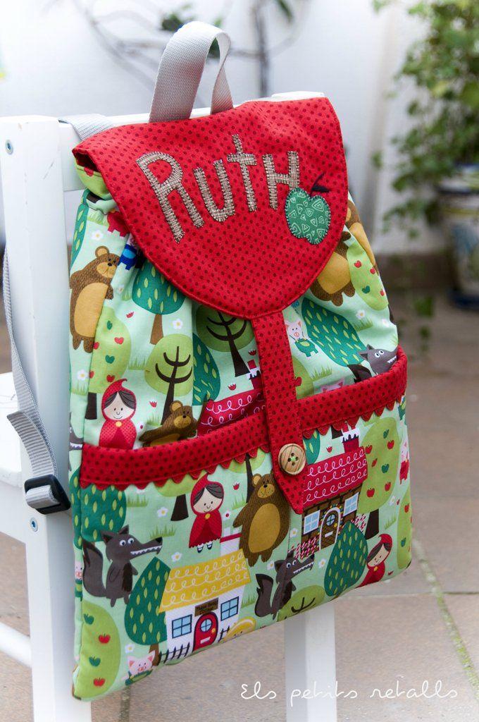 Els petits retalls: Motxilla per la Ruth