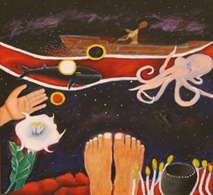 L. Frank Manriquez (Tongva/Ajachmem) is a Native California Indian artist,