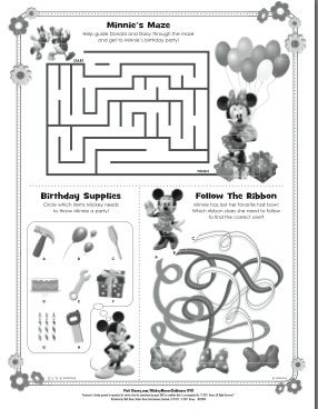 activities and fun for preschoolers - Mickey Mouse Colouring Games