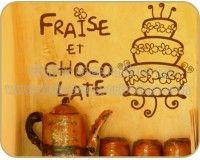 Vinilos Decorativos para Cocina 16 | Fraise et chocolate http://vinilosdecorativosmx.com/vinilos-para-pared/vinilos-de-cocina