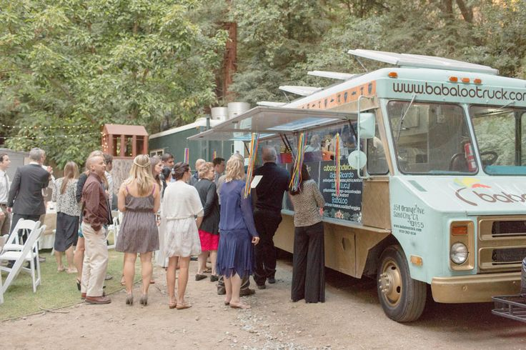 Holy food truck catering! A Big Sur Wedding at The Henry Miller Library: Sabeena & Ryan