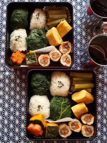Takana Leaf Rice Ball Bento 青高菜おむすび弁当