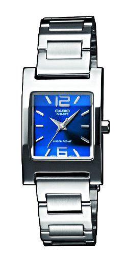 Calidad Casio!!! Precio: EUR 20,00 Envío estándar gratis para miembros Premium CASIO Collection LTP-1283D-2A2EF - Reloj de mujer de cuarzo, correa de acero inoxidable, esfera Azul