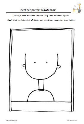 Gietjes Corner: Oefen het schrijven van je naam met een haarportret!