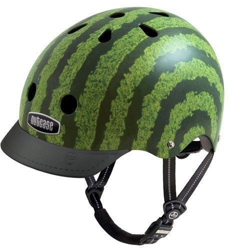 Well Sascha needs a new helmet, and who doesn't want to see a little watermelon racing down the street! #EntropyWishList #PinToWin Nutcase Helmet - Street Watermelon Generation 3