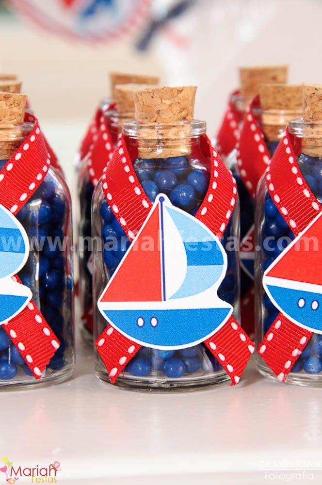 Garrafinhas personalizadas tema Marinheiro | Festa personalizada | Festa infantil | Decoração by Mariah festas
