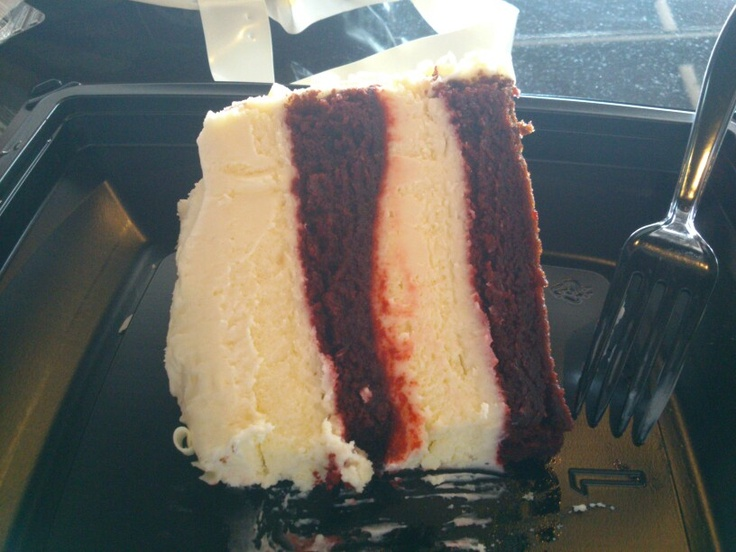 Red velvet cheesecake - from The Cheesecake factory, Baltimore