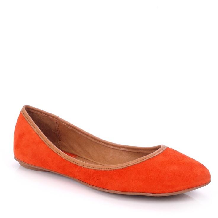 Ash Instinct Orange Suede Ballet Pump