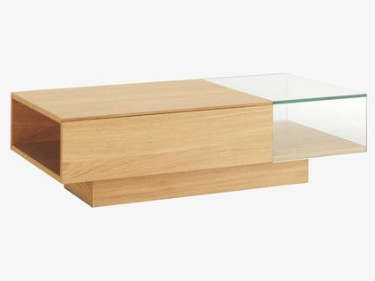 Akira Natural Wood Coffee Table Habitatuk Hem