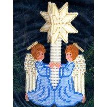 Angels Aglow Christmas Treetop Ornament Plastic Canvas Craft Kit Star