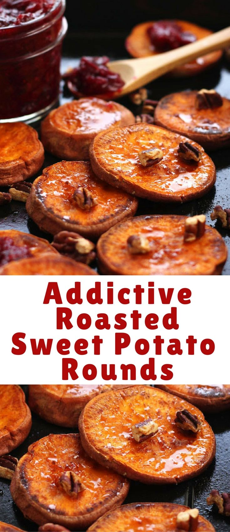 Roasted sweet potato rounds are an easy snack or holiday side dish for two. Sweet potato slices seasoned with coconut oil, salt and cinnamon then roasted to caramelized perfection. Better make two batches, you won't want to share!