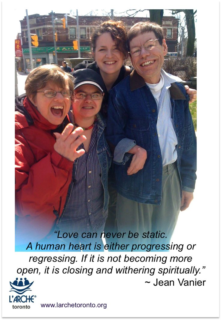 """""""Love can never be static.  A human heart is either progressing or regressing. If it is not becoming more open, it is closing and withering spiritually."""" ~ Jean Vanier  #quotes #inspirational #love #jeanvanier"""