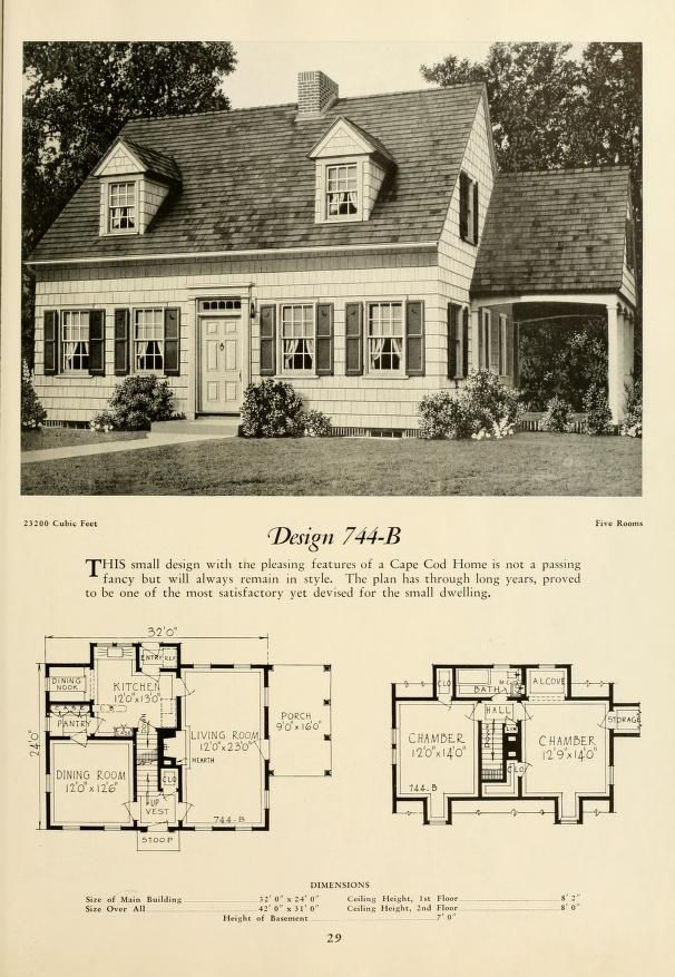 Small Modern Cape Cod House Plan Cathedral Ceiling 1 Car: 253 Best Images About Blue Prints From The Past On