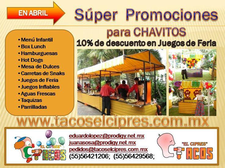 en ABRIL Superpromociones para Chavitos 10% de descuento en Juegos de Feria y Juegos Inflables para Fiestas