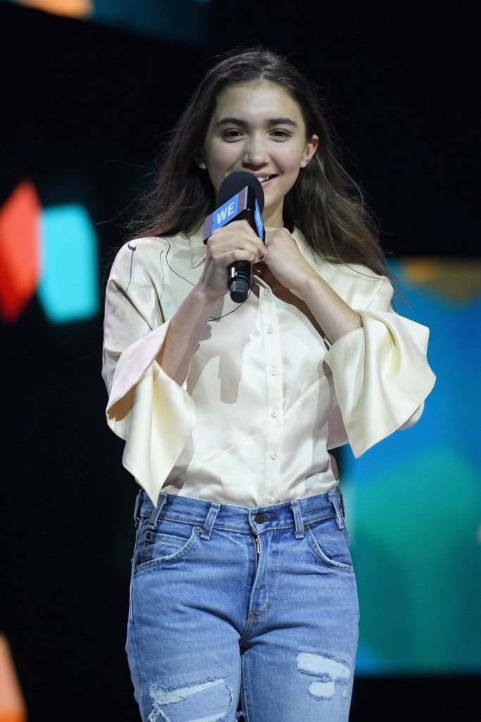 Rowan Blanchard Photos Photos - Celebs Attend WE Day New York Welcome to Celebrate Young People Changing the World - Zimbio