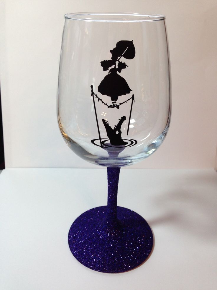 Disney world inspired haunted mansion glitter wine glass Wine glasses to go