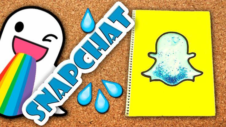 DIY   Cuaderno liquido de Snapchat   Fácil   PumitaNegraArt