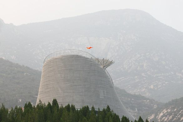 The Shaolin Flying Monks Theatre sits atop Shaolin Monastery's Cypress Hill.
