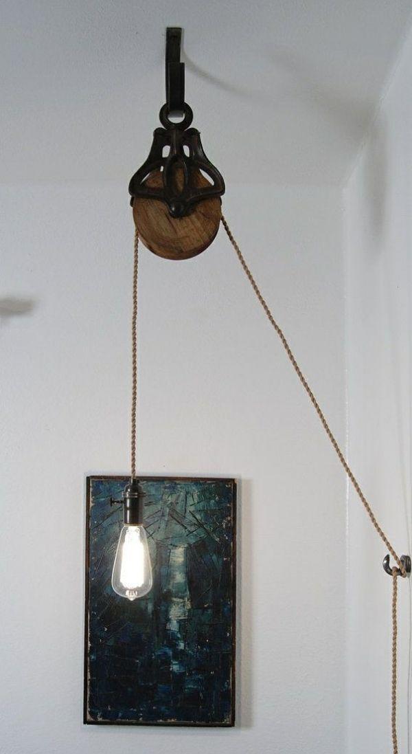 industriallampen Industrial chic Möbel pendelleuchte höhenverstellbar