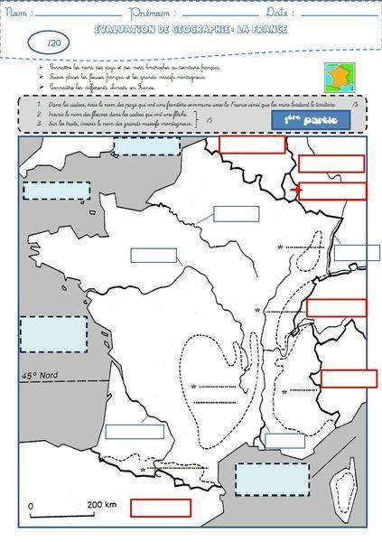 Géographie : une évaluation sur la France (frontières, fleuves, reliefs et climats) -- Site has lots of PDFs that could be useful in the French classroom.
