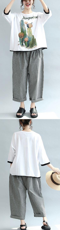 2017 white casual prints cotton  o neck t shirt