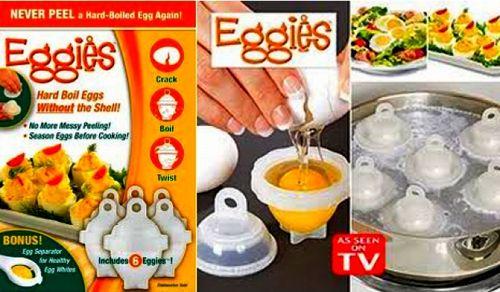 Eggies pojemnik do gotowania jajek bez skorupek