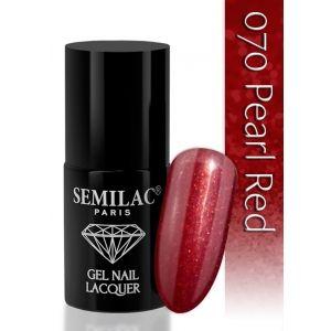 LAKIER HYBRYDOWY SEMILAC 070 PEARL RED 6 ML, http://www.mbgonline.pl/semilac