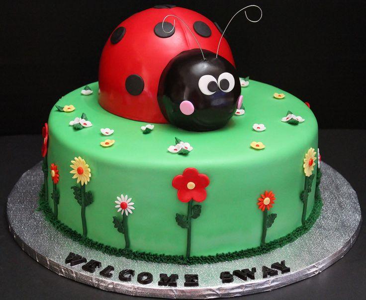 Lady Bug Cake For Baby Shower By Cecy Huezo Www